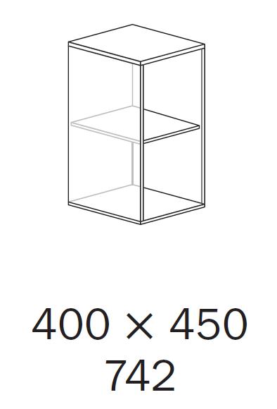 ALFA 500 Skříň 400x450x742, Jabloň