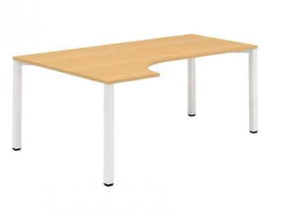 ALFA 200 Stůl kancelářský 221 Levý, Bílá