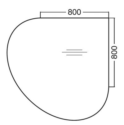 ALFA 200 Přísed Levý 1200x1200x25, Bílá