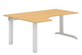 ALFA 300 Stůl kancelářský 321 Levý, Bílá