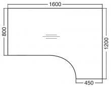 ALFA 200 Stůl kancelářský 207, Buk