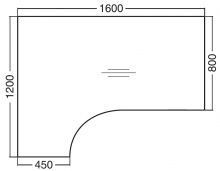 ALFA 200 Stůl kancelářský 208, Divoká hrušk