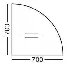 ALFA 200 Přísed 700x700x25, Ořech