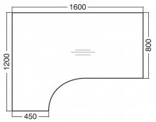 ALFA 300 Stůl kancelářský 308, Jabloň