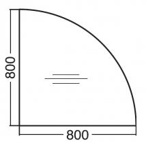 ALFA 300 Přísed 800x800x25, Ořech