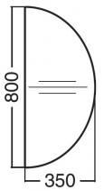 ALFA 300 Přísed 800x350x25, Ořech