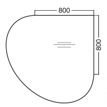 ALFA 300 Přísed 1200x1200x25, Ořech