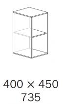 ALFA 500 Skříň 400x450x735, Ořech