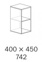 ALFA 500 Skříň 400x450x742, Ořech