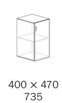 ALFA 500 Skříň 400x470x735 levé