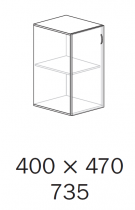 ALFA 500 Skříň 400x470x735 levé, Jabloň