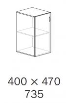 ALFA 500 Skříň 400x470x735 levé, Ořech