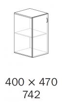 ALFA 500 Skříň 400x470x742 levé Půda, Ořech