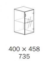 ALFA 500 Skříň 400x458x735 Dveře sklo levé