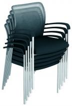 Židle ALFA 712 konferenční s područkami černá