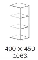 ALFA 500 Skříň 400x450x1063 3M NIKA, Ořech