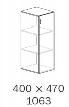 ALFA 500 Skříň 400x470x1063 Dveře LTD pravé