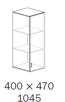 ALFA 500 Skříň 400x470x1045, Nástavec, Dveře LTD p