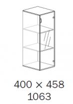 ALFA 500 Skříň 400x458x1063 Dveře sklo pravé<!----
