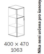 ALFA 500 Skříň 400x470x1063 Dveře LTD levé/NIKA<!-