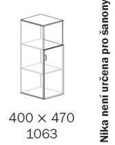 ALFA 500 Skříň 400x470x1063 Dveře LTD pravé/NIKA<!