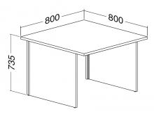 ALFA 100 Stůl kancelářský 100, Buk