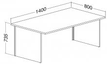 ALFA 100 Stůl kancelářský 102, Ořech
