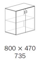 ALFA 500 Skříň 800x470x742 FT Dveře, Buk