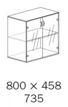 ALFA 500 Skříň 800x458x735 FT Dveře sklo,