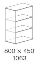 ALFA 500 Skříň 800x450x1063 NIKA, Divoká hr