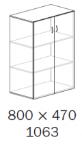 ALFA 500 Skříň 800x470x1063 FT Dveře, Jablo