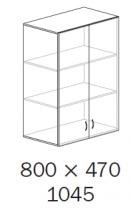 ALFA 500 Skříň 800x470x1045 FT Nástavec Dveře<!---