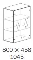 ALFA 500 Skříň 800x458x1045 FT Nástavec Dveře sklo