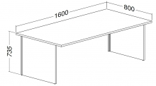 ALFA 100 Stůl kancelářský 103, Divoká hrušk