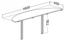 ALFA 100 Přísed 1600x450x25, Divoká hruška