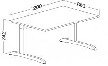 ALFA 300 Stůl kancelářský 301, Ořech