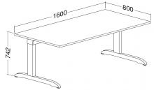 ALFA 300 Stůl kancelářský 303, Divoká hrušk