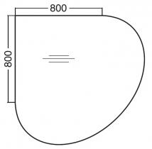 ALFA 200 Přísed Pravý 1200x1200x25, Bílá