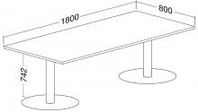 ALFA 400 Stůl konferenční 404