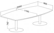 ALFA 400 Stůl konferenční 405,  Bílá