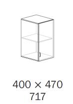 ALFA 500 Skříň 400x470x717 Nástavec Pravé<!--->, Třešeň