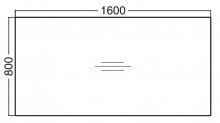 ALFA 100 Stůl kancelářský 103, Jabloň