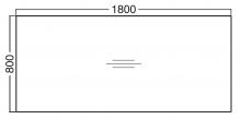 ALFA 100 Stůl kancelářský 104, Divoká hrušk