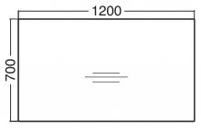 ALFA 100 Stůl kancelářský 105, Ořech