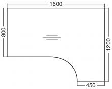 ALFA 100 Stůl kancelářský 107, Buk
