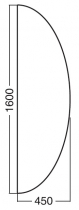 ALFA 100 Přísed 1600x450x25, Buk