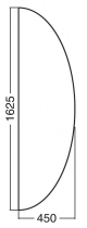 ALFA 100 Přísed 1625x450x25, Ořech