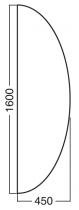 ALFA 100 Přísed 1600x450x25, Ořech
