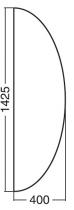 ALFA 100 Přísed 1425x400x25, Jabloň
