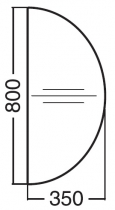 ALFA 200 Přísed 800x350x25, Divoká hruška